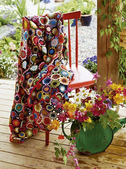 Deken Arne Carlos Breien de bloemetjes buiten