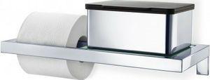 Deze WC-rolhouder met glasplaat is afkomstig uit de Menoto serie van het merk Blomus. De houder heeft een mooie, glanzende zilveren kleur en de plaat is geschikt voor onder andere de vochtige doekjeshouder van hetzelfde merk. Het product is volledig gemaakt van gepolijst roestvrijstaal. Dit materiaal is vochtbestendig en heeft een hoge duurzaamheid. De WC-rolhouder met glasplaat is een chique product en zal aan uw badkamer of WC een betere sfeer geven. U kunt het product vastmaken met de…