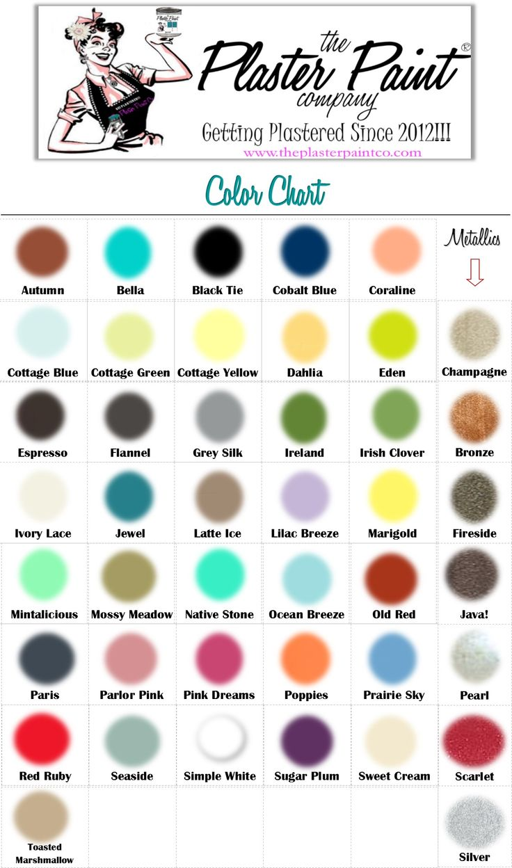 Paint colors website - Plaster Paint Color Chart More