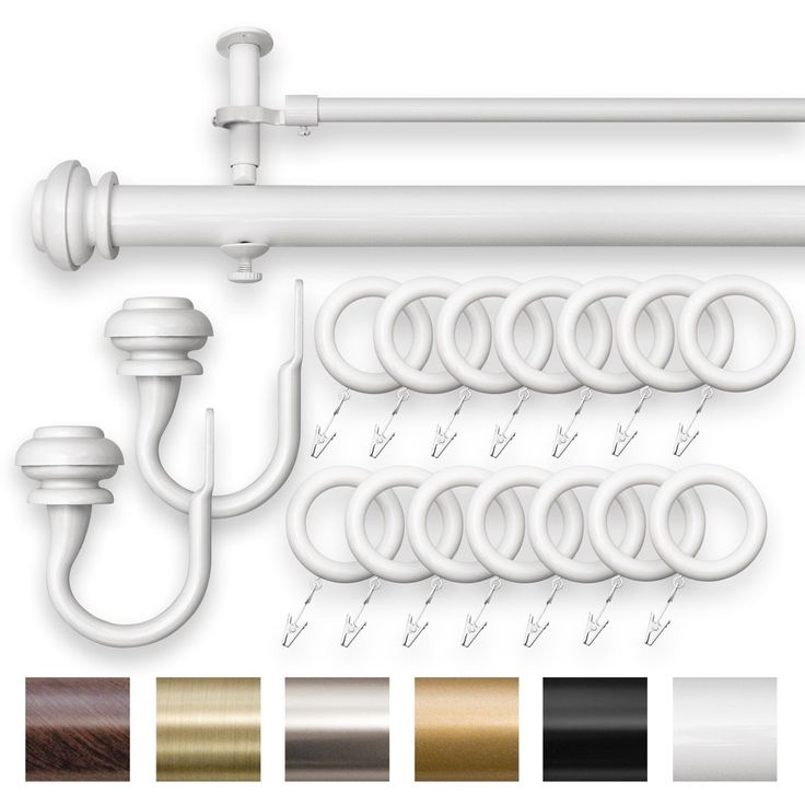 curtain rods and finials imperial double curtain drapery rod set adjustable white 28