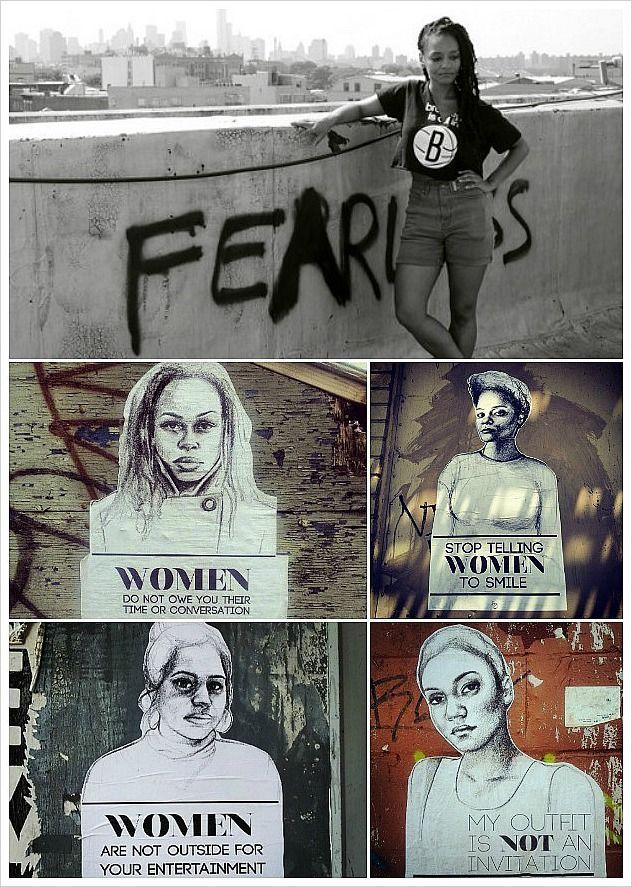 """Stop Telling Women To Smile"", Brooklyn Artist Tatyana Fazlalizadeh Takes On Gender-Based Street Harassment."