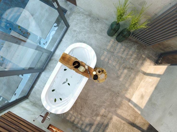 Ванная комната в стиле спа 🍀🛀 Чтобы расслабить тело, мысли, #ваннаякомната в стиле #спа – отличный выход. Она станет тем самым средством, которое подарит силы и #радость. Создавая подобный интерьер, стоит помнить о минимализме, необходимости применения натуральных материалов, которые создадут особый #уют, как это показано на фото.  📝Выбрать сауну: http://santehnika-tut.ru/sauny/ 📝Выбрать бассейн: http://santehnika-tut.ru/bassejny/ 📝Выбрать ванну: http://santehnika-tut.ru/vanny/