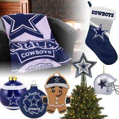 Dallas Cowboys Christmas Ornaments, Stocking, Tree Topper, Blanket
