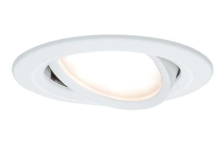 4 per room - Paulmann 93863 Einbauleuchte LED Coin Slim IP23 rund 6,8W Weiß 1er-Set schwenkbar
