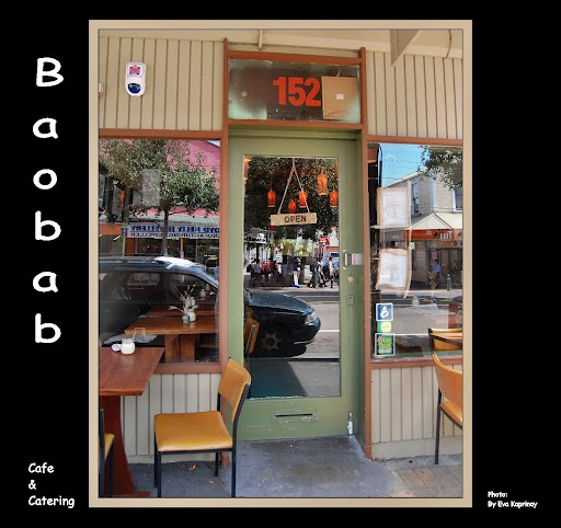 Baobab Cafe in Newtown - music plays in the courtyard out the back♪