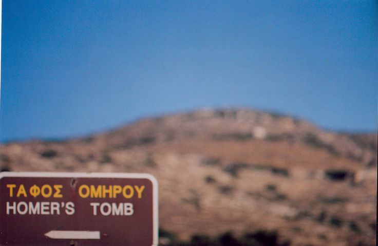 Sign for Homer's tomb, #Ios island #VarietyCruises