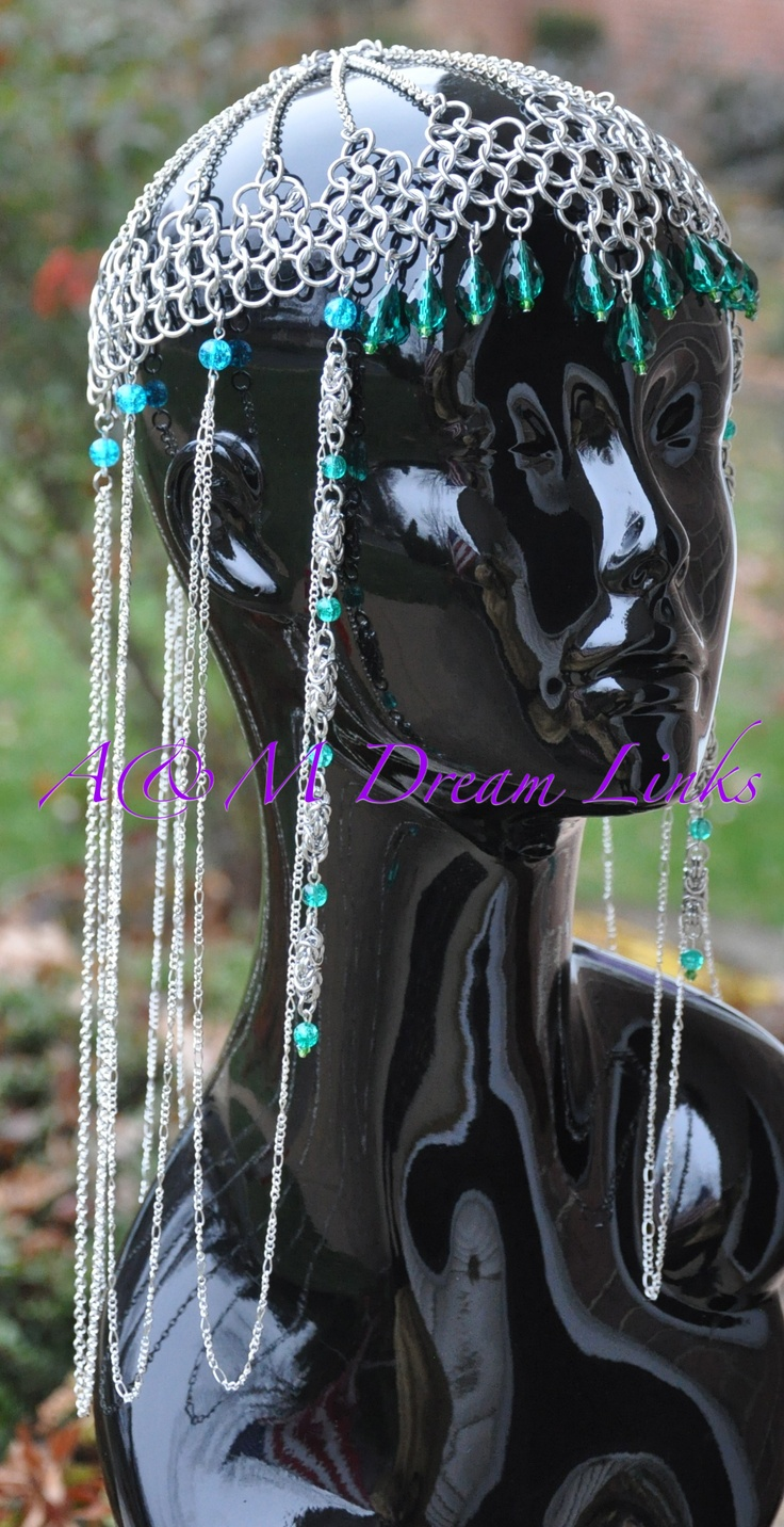 Chain maille headpieces