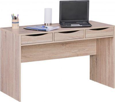 Wohnling WOHNLING Schreibtisch SAMO 120 Cm Design Bürotisch Sonoma Eiche  Modern Jugendschreibtisch 3 Schubladen U0026 Stauraum