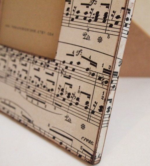 4x6 Sheet Music Picture Frame by TwoHandsDesigns on Etsy, $24.00