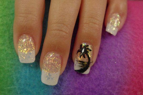 18 Tropical Nail Art Tutorials For Summer | Nail Design Ideaz