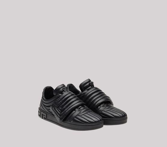 Sneaker Trapuntate Con Chiave Greca