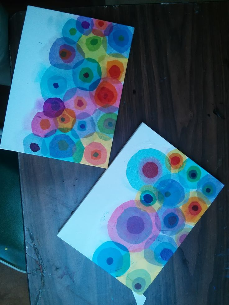 Fireworks made from tissue paper circles