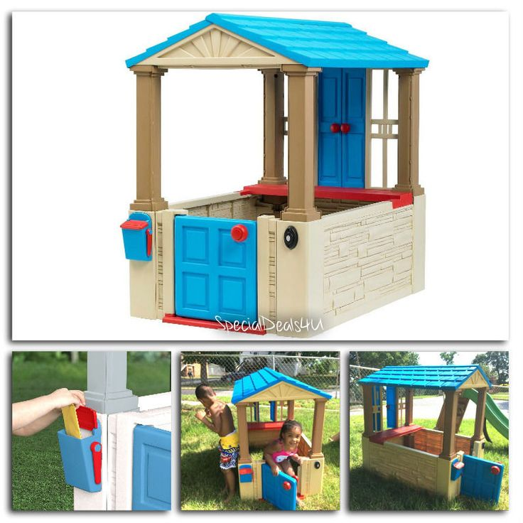Kids Outdoor Playhouse Children Backyard Toy Play House Cottage Playset Indoor…