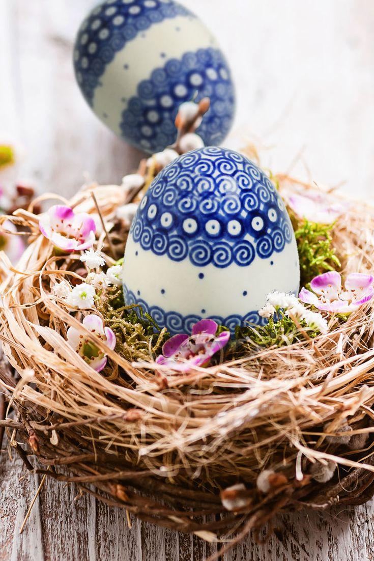 Ceramic Easter Eggs Bolesławiec pottery