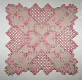 Summer Sunrise Hardanger Doily by Cindy Valentine Designs