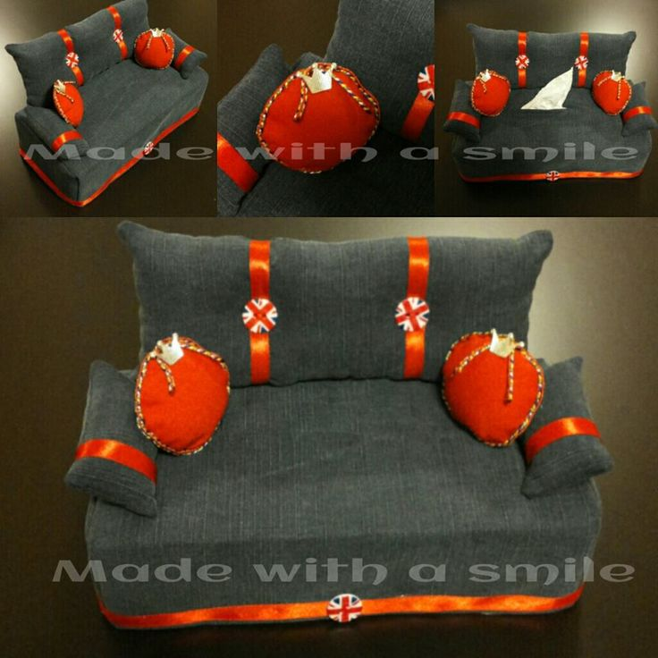 Altamente personalizzabile nei colori e nello stile, divanetto porta fazzoletti!