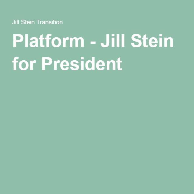 Platform - Jill Stein for President