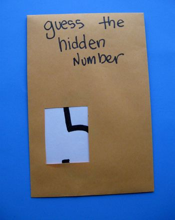 Activities: Hidden Numbers. Do this with uppercase and lowercase letters as well. Make the number or letter out of a raised pattern (string, sandpaper) and then they could feel and trace the hidden parts.