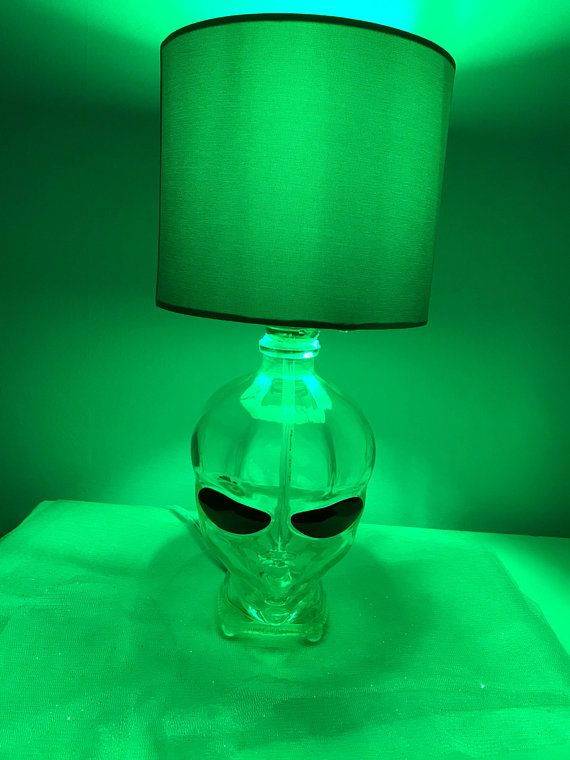 Recycled Bottle Alien Head Lamp With Images Lamp Recycled