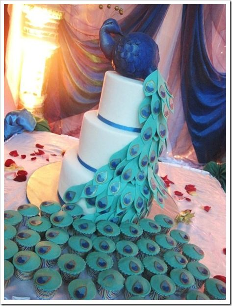 peacock cake topper | ... cake and a beautiful wedding cake topper! We will see you in Cabo