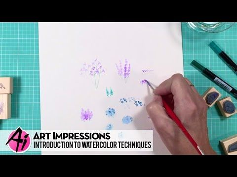 Watercolor the Art Impressions Way basic tools - YouTube
