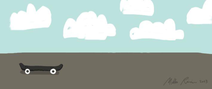 Animated illustration by Mikko Roininen #fox #skateboard #gif #skettu