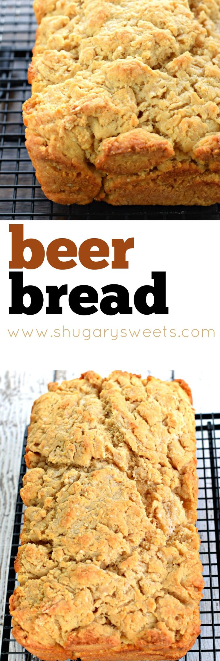Easy, buttery Beer Bread recipe to serve with dinner! Also great to cube into bite sized pieces and use for dips!
