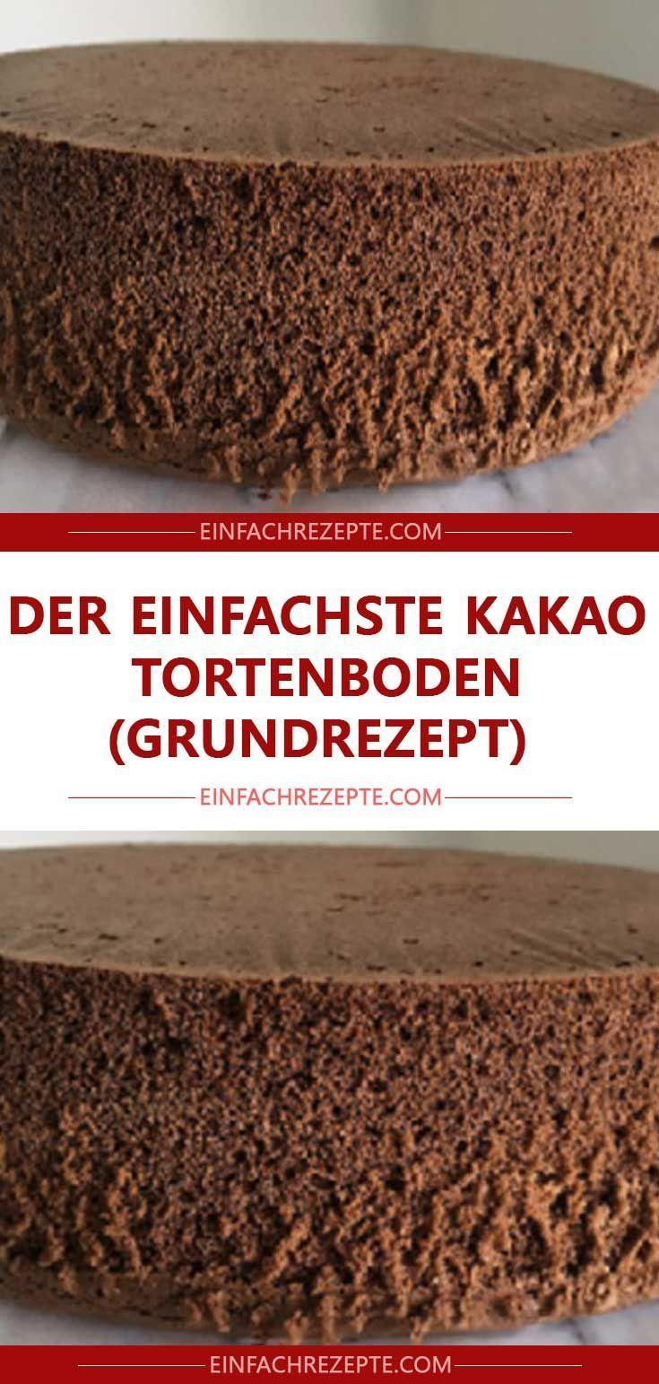 Die einfachste Kakaokuchenbasis (Grundrezept) 😍 😍 😍 – Rezepte