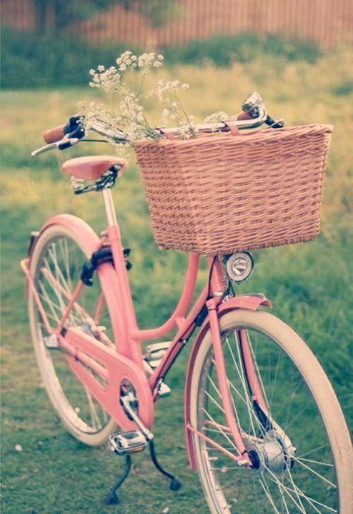 pink cute bycicle