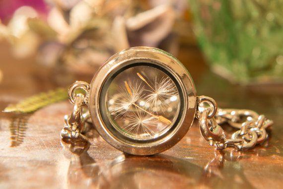 Dandelion Terrarium Bracelet, Dandelion Locket Bracelet, Dandelion Nature Jewelry, Gifts for Her, Dandelion Jewelry, Gifts from Ireland