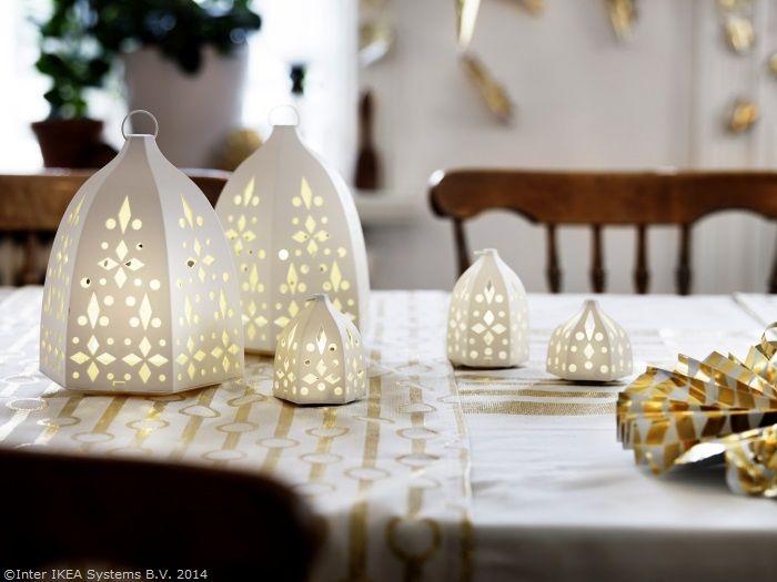 Înainte să aduci bunătățile,  pune pe masa de Crăciun și puțină magie. www.IKEA.ro/felinar_STRALA