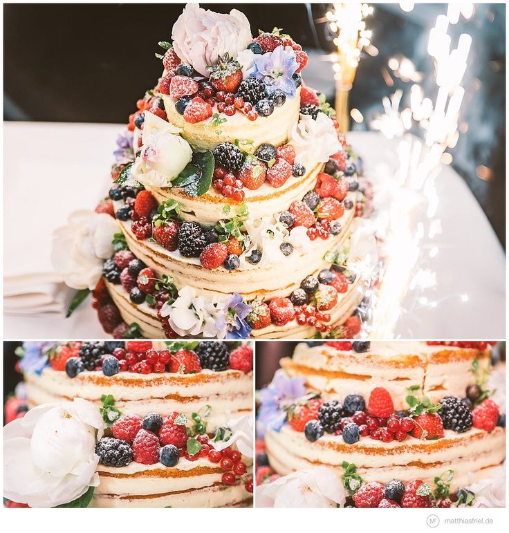 great alternative wedding cake- naked cake with delicious berries