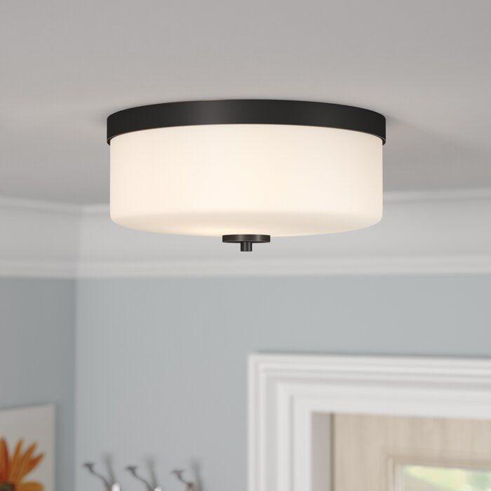 Sanderson 2 Light 13 63 Flush Mount Flush Mount Lighting Semi Flush Ceiling Lights Glass Bulbs