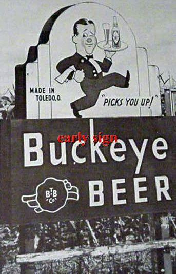A large sign in a corn field in the Toledo area  ca.1930's. ~ Toledo, Ohio
