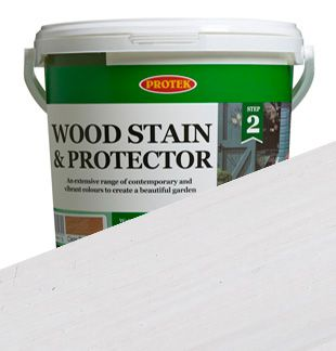 Wood Stain   Protector - Whitewash - Protek Wood Stain