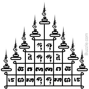 sont di être un symbole de pouvoir mystiq et bonn chance.AuCambodge,les gens croient que ce tatouage porte des pouvoirs magiques,qui sauve leporteur du mal et des dificulté.Puisqu'ila été cru pour protéger le porteur contre le mal physique,ls solda dans le Cambodge antique ont utilisé pour obtenir leur corp tatoué extensivement avec les tatou de yantra.Cepndant,il ya quelqu règl qui doive être suivi pour maintenir la puissance de tatou.