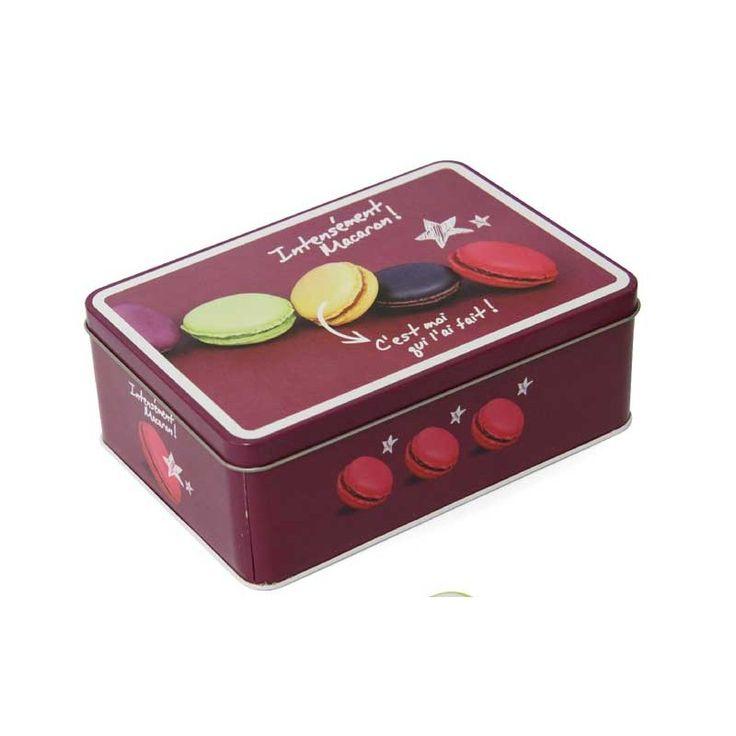 Disponible sur Paris-Prix.com ! Boite Métal Macaron Violet