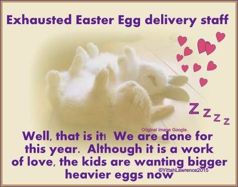 . ❥  #Easter Bunny Delivery Staff      have completed their work of #love