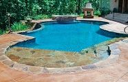 Love this pool with the lounge ledge...
