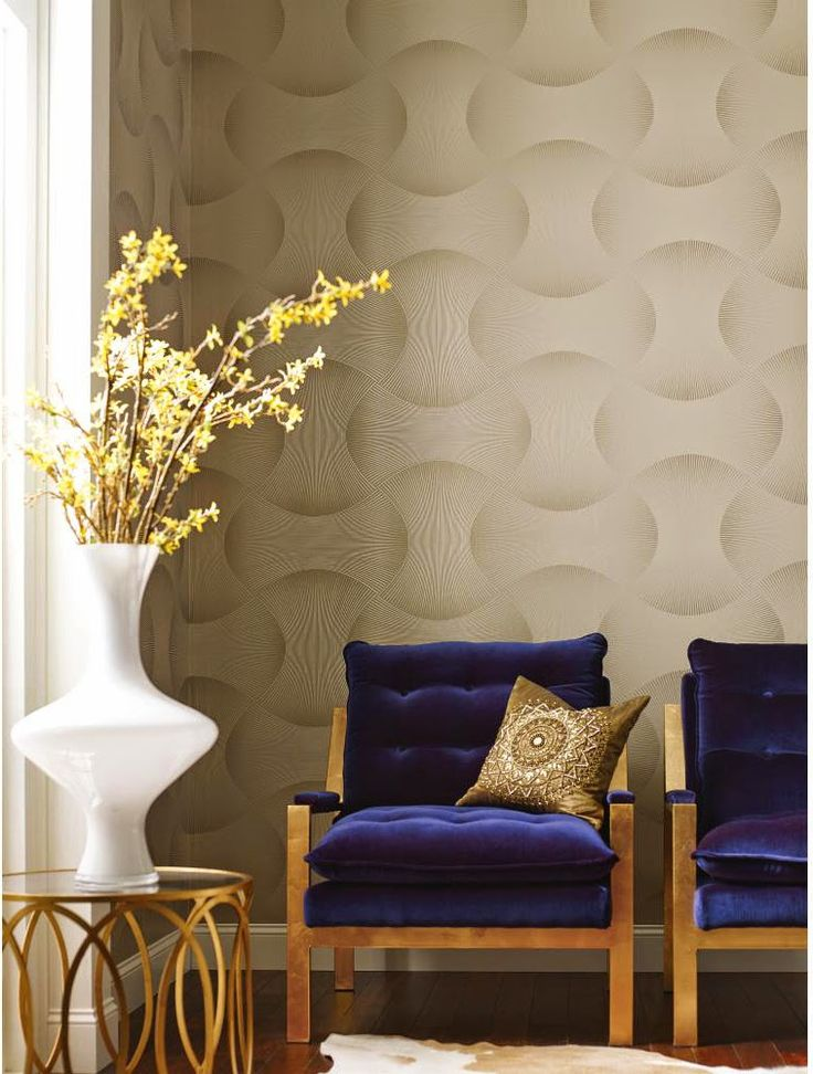 Freestyle Wallpaper in Browns design by Candice