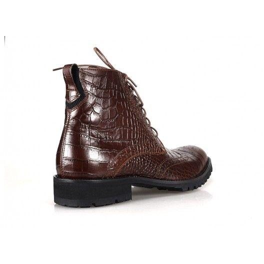 Pánske kožené topánky COMODO E SANO hnedej farby - fashionday.eu