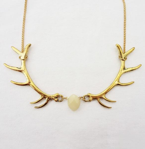 Bonbi forest antler necklace