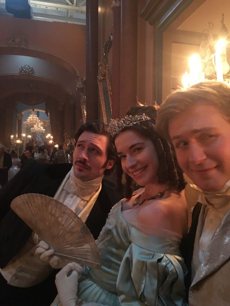 From Daisy Goodwin's Twitter. Prince Ernest, Duchess Harriet Sutherland and Lord Alfred Paget. (David Oakes, Margaret Clunie and Jordan Waller.)