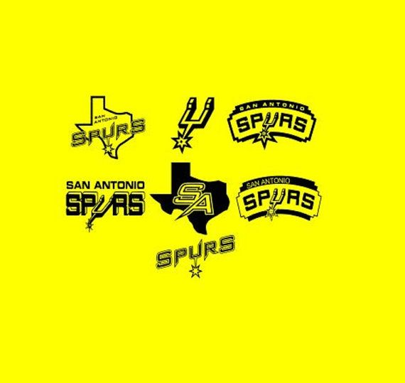 San Antonio Spurs logos Cutting Files Silhouette SVG, DXF and Eps vinyl cut Files, for Cameo and Cricut Explore machines Instant download This
