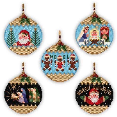 画像 beaded Christmas ornaments brick stitch