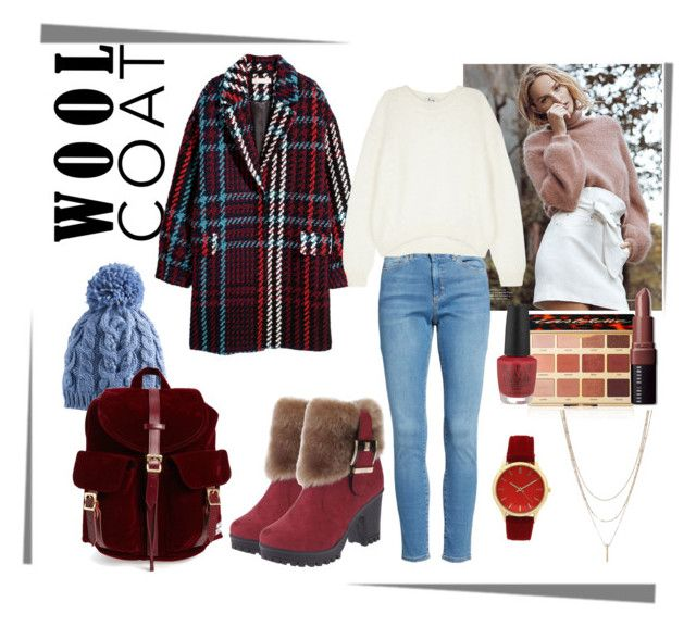 """winter outfit2"" by ornella-basso ❤ liked on Polyvore featuring SONOMA Goods for Life, Herschel Supply Co., Topshop, Acne Studios, tarte, OPI, Bobbi Brown Cosmetics, Olivia Pratt, Winter and red"