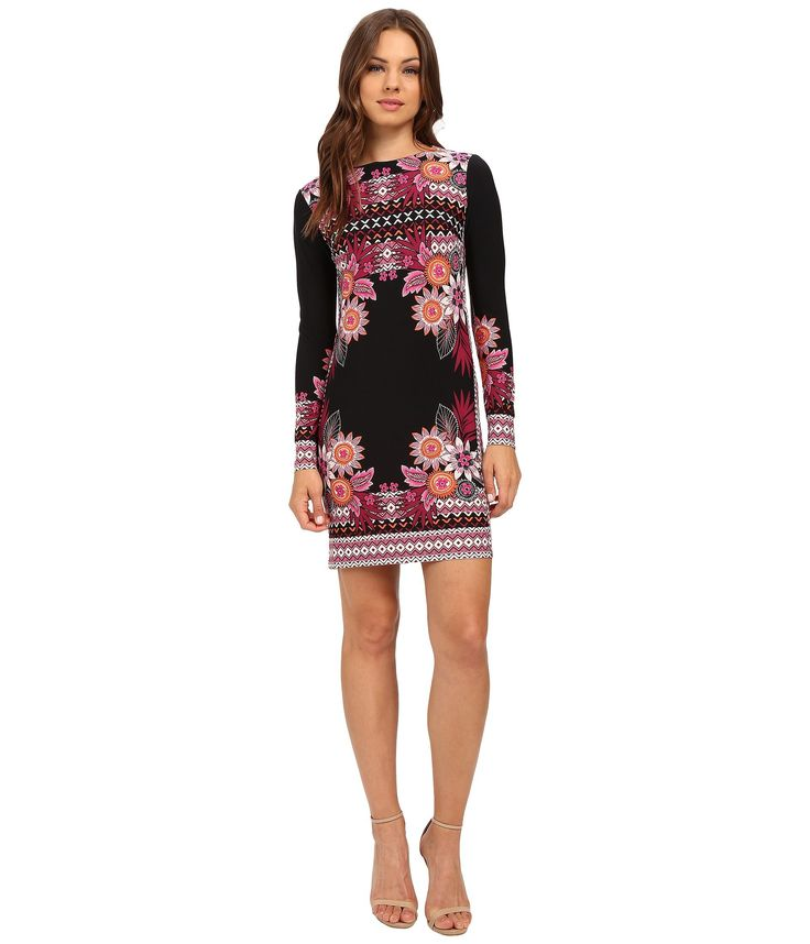 DONNA MORGAN Printed Matte Jersey Dress. #donnamorgan #cloth #