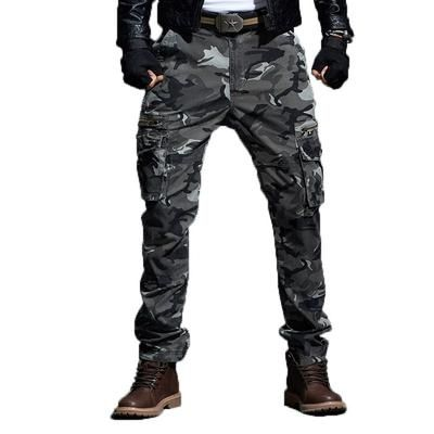 Camo Pants For Males Army Fashion Tactical Cargo Pants Military Camouflage Straight Trousers Multi Pocket Camo Joggers – 2 Colours