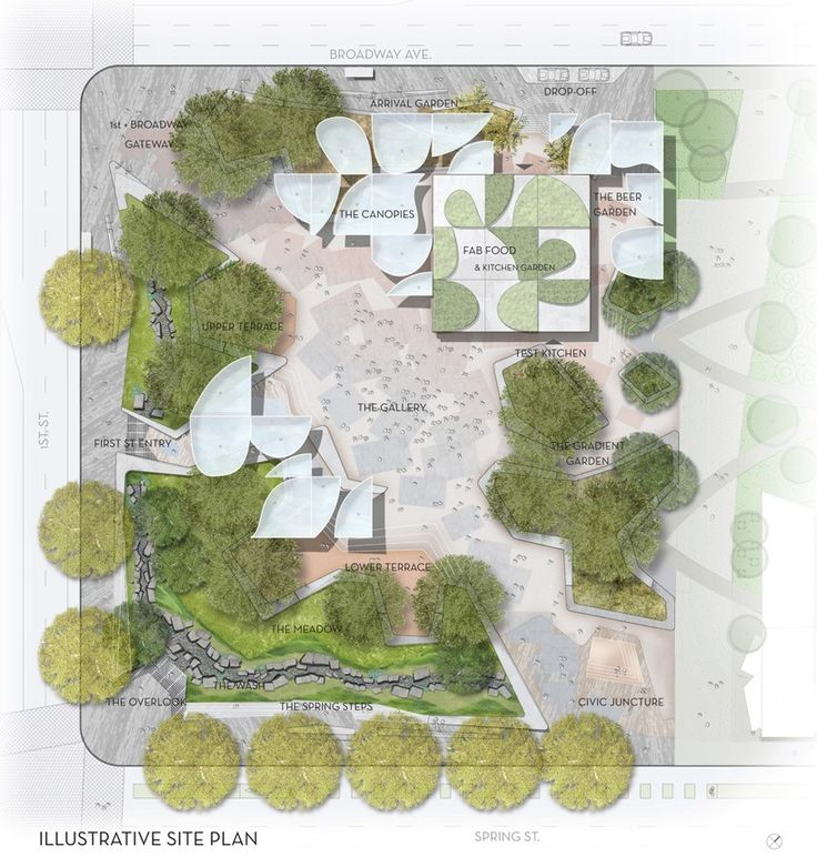 OMA collaborates with landscape architects mia lehrer + associates with their competition proposal of a respite that celebrates the city's diversity.