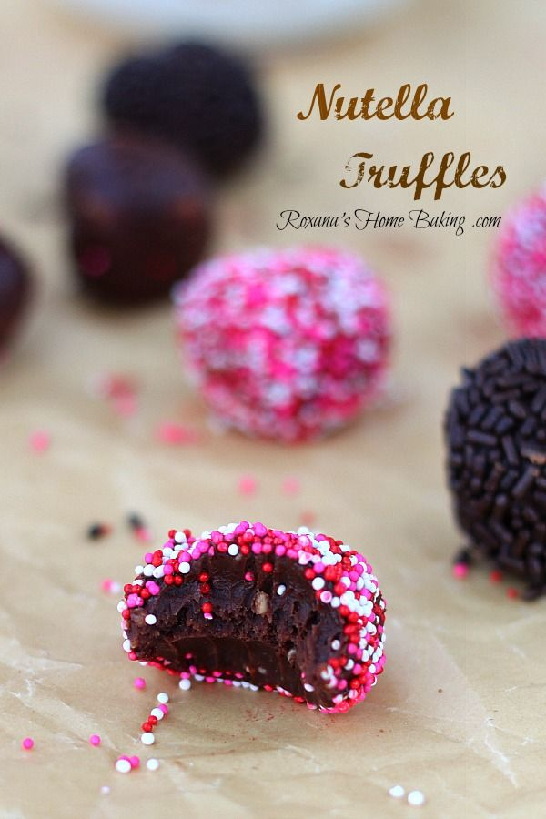 Nutella Truffles, A rich, smooth, creamy mixture of chocolate, cream, butter, chopped hazelnuts and heavenly Nutella. Easy and totally foolproof
